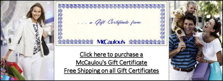 Click here to purchase a McCaulou's gift certificate.